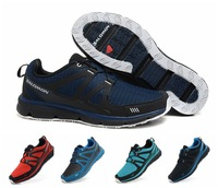 Free shipping 2014 new style sport walking shoes running shoes,men fashion Salomon sneakers walking casual shoes size:40-45