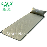 2014 outdoor automatic inflatable cushion single patchwork camping moisture-proof mattress sleeping pad mats with  pillow