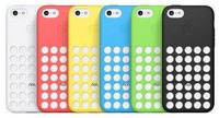 Ultra Slim Silicon Colourful Case for New  Iphone 5C Retro Dots Hole New Fashion Silicone Polka Dot Back Case For 5C 6pcs/lot