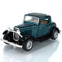 Kinsmart FORD soft world archaists 1932 3window coupe sedan model alloy WARRIOR toys