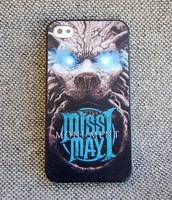 Miss May I Monument This is our war Plastic Hard Case for Apple iPhone 5 5G  New Custom Made High Quality Color Printing