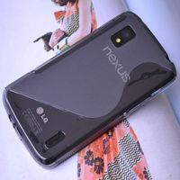 [caseii] Ultra Thin Matte Elegant S Line Shape TPU Gel Case For Google LG Optimus Nexus 4 E960 Case Free shipping+Drop Shipping