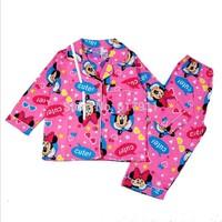 wholesale lot winter baby brand clothing cartoon pajama sets pajamas for girls clothing sets minnie girl kids sleepwear suits