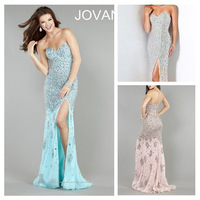 High Quality Beaded Evening Dresses Sexy Mermaid/Trumpet Party Prom Dress Fashion Dress Long Chiffon Dress 001
