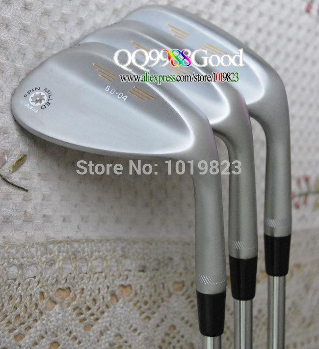HOT Golf Clubs NEW SM4 Golf wedges set 52.56.60 black/ steel shaft+golf grips Golf set EMS Free EMS Shipping(China (Mainland))