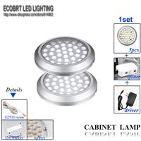 2014 Chandelier Special Design1set Led Puck Light 12v Kitchen Cabinet Lights for Home 5lamps+1splitter+ 1driver+free Shipping