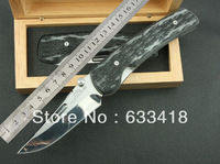 2014 Newest ROCKSTEAD HIZEN-TIC Japan High Quality Folding Knife D2 Blade Full TC4 Handle