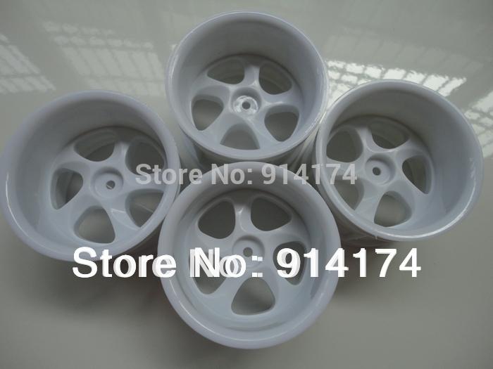 wheels/tyres /Rims /wheel hub for 1/10 RC Monster truck /big foot car 4pcs/set white free shipping(China (Mainland))