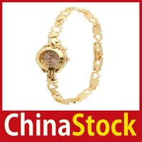 super fashionable [China Stock] New Golden Girl Lady Bracelet Quartz Wrist Watches #54 Better Price Limited Sales!