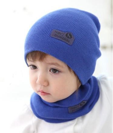 NEW Baby Kids Warmer Cartoon Ear Caps Hat Wrap Scarf Sets Children Kids Girls Boys Cap(China (Mainland))