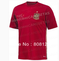 Spain 2014 world cup Red home soccer jersey top Thailand Quality 3A+++ Football uniforms Men shirts Spain national team