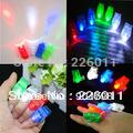 4pcs LED Finger Light,Laser Finger,Beams Ring Torch For Party,wedding celebration mix color Hot!(China (Mainland))