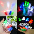 4pcs LED Finger Light,Laser Finger,Beams Ring Torch For Party,wedding celebration mix color  Hot!