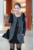 Winter Girls Lady Women's Woolen Slim Thick Long Sections Overcoat Coat Windbreaker Outerwear