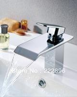 Copper Sink Chrome Bathroom Waterfall Faucet Basin Bathroom Mixer Water Tap Vanity Torneira Bathroom Banheiro Grifos Lavebo