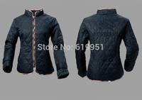 wholesale 2014 winter women wadded rhombic wrapped edge with lining lattice women's zipper short jacket slim fit