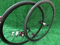 3K full carbon bicycle wheelset,  Clincher rim carbon wheelset 700C (38mm)+spokes+hubs +quick release