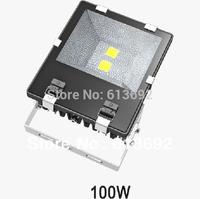 DHL free shipping bridgelux 45mil chip 2x50w 100w led flood light floodlights tunnel garden square lamp