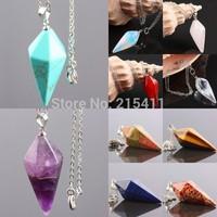 1Pc Rose Quartz/Opal Opalite White/Carnelian Jasper Gem Stone Healing Dowsing Chakra Pendulum