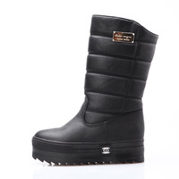 Acesc winter brief snow platform flat knee-high of boots women genuine leather shoes winter boots women's winter boots new 2013