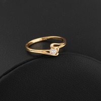 Simple Style Jewelry Heart Shape 18K Gold Plated Rings For Cute Women  Yilia jewelry