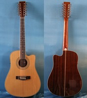 41inch 12string folk guitar picea asperata panel custom acoustic guitar free shipping