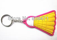 Badminton racket Team Keychain keepsakes PVC key souvenir chain key ring key pendant