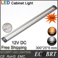 2014 promotion spotlight lamps new 6pcs/lot 12v 3w led kitchen linear under cabinets strip lights 42pcs smd3528 bar light