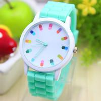 12 colors Fashion Silicone Geneva watch Hot Selling Women Dress Watch 1piece/lot BW-SB-369