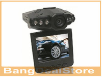 Wholesale HD 720P Car DVR with 2.5 TFT LCD SCREEN  120 degree angel and 270 degree rotating screen.6 LEDS for IR night vision
