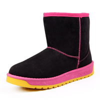 super soft undercoat warm full form soft line color matching female winner boots