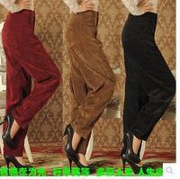 high waist corduroy pants loose harem pants bloomers corduroy 5