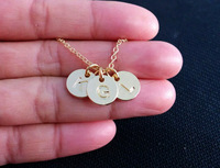 Fashion Accessories 2013 THREE Initials GOLD Fill Necklace Customize Monogram Necklace For Women