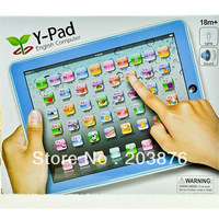 Free shipping Y-PAD touching speech learning machine Music and Led Light children Learning Toys