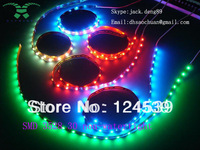 non-watertight 5M  3528 SMD 60 LEDs/M Warm red/green/yellow /white / RGB Flexible LED Strip
