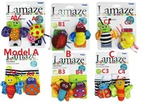 2014 Free shipping,4pcs/lot,baby rattle toys Lamaze Garden Bug Wrist Rattle and Foot Socks 2PCS/PACKAGE