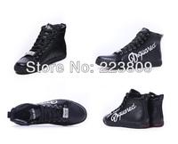 Fashion Dsq Men Boots Black/White Hip-Hop Classic Lace-Up Boots D2 Shoes For Man