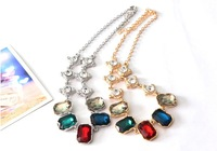 FREE SHIPPING The new 2013 necklace color Setting alloy Short necklace short chain necklace female clavicle necklace