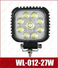 27W !! WL-012-27W SUV Vehicle work lamp / Car spot light LED working light Flood light IP68 3W/led  Farming light FFF freeship(China (Mainland))