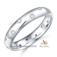 Created Diamond Wedding Band Solid Sterling 925 Silver Christmas Present Ring CFR8060