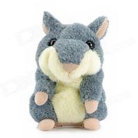 Yellow or Gray Electronic Pets Cute Speak Talking Sound Record Hamster Talking Plush  Free shipping