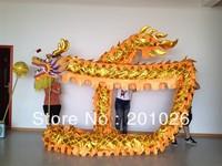 18m Length Size 3 Gold-plated on body  yellow  Chinese DRAGON DANCE ORIGINAL Dragon Chinese Folk Festival Celebration Costume