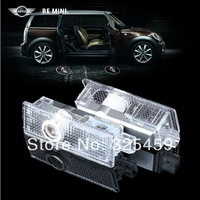 mini emblem car door laser lamp, countryman ONE COOPER 7W 4th fourth generation door projector, mini badge door welcome lights