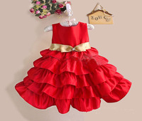 wholesale 2014 new fashion girl princess dress,5 layers girl party dress baby clothes dress 5pcs/lot free shipping YH057