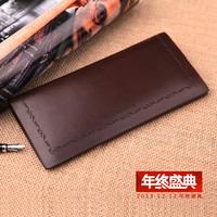 New wallet male Leather wallet male Long men leather wallet screens more slim wallet