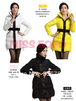 2013 Winter New Women's Korean Slim Belt Long Down Jacket