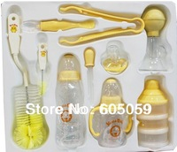 Gourd Shaped Baby Bottle Feeding Set 10 Pieces/set Retail Box Package uhba066