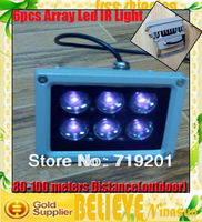free shipping  80--100 meters  illuminator infrared lamp 6pcs Array Led IR Light for CCTV Camera+2pcs/lot