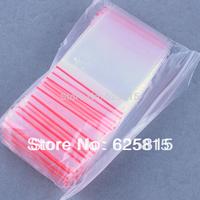 Hot New 100x 4x6cm Jewelry Ziplock Zip Zipped Lock Reclosable Plastic Poly Clear Bags 60-356