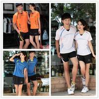 Lining/Li Ning/Li-Ning Badminton Shirt Lovers' Jersey/Shirt+Shorts Clothing Set Sport Suit Women and Men Can be Customized 030